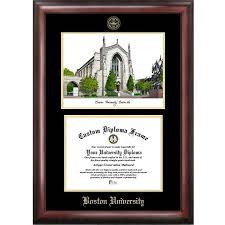 harvard diploma frame of houston 11 x 14 gold embossed diploma frame