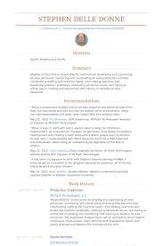 Manufacturing Supervisor Resume Production Supervisor Resume Samples Visualcv Resume Samples