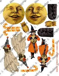 vintage halloween images clip art heather a hudson vintage halloween witch boot ornie