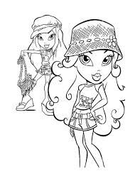 bratz coloring pages printable download educational