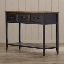 robinwood 3 drawer console table lehane river console table console tables and consoles