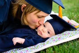 baby graduation cap and gown mothers education significant to children s academic success