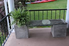 Garden Bench With Planters Outdoor Bench Planter Contemporary Patio Philadelphia By