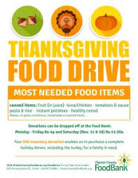 food drives chester county food bank