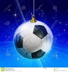 soccer ball christmas decoration royalty free stock photos image