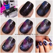 purple galaxy nails with tutorial feat zoya payton space nails