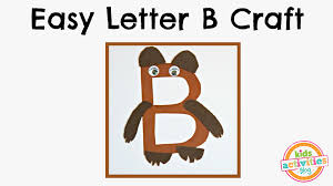 easy letter b craft preschool alphabet resource youtube