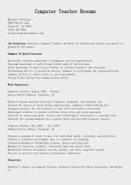 Resume For Computer Teacher Objective For A Teacher Resume Incredible Sample Here You Need To