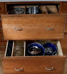 Cabinet Pan Organizer Base Pots And Pans Storage With Adjustable Drawer Dividers Kraftmaid