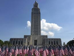 Louisiana travel tracker images 11 000 flags placed on state capitol grounds to honor military jpg