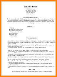 Logistics Management Specialist Resume 8 Logistics Resume Childcare Resume