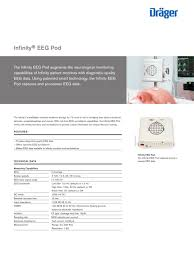 infinity eeg pod dräger pdf catalogue technical documentation