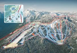 Map Of Vancouver Canada Mountain Map Grouse Mountain The Peak Of Vancouver