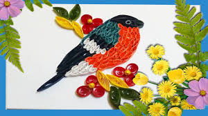 paper quilling birds tutorial quilling artwork a beautiful bird sitting on tree youtube