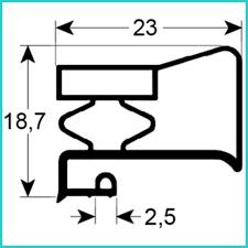 joint de chambre froide de matériel frigorifique gris sur mesure type 9949