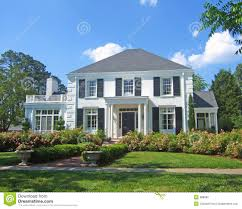 colonial home white colonial home stock photography image 888682
