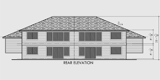Split Level Homes Plans Duplex House Plans Split Level Duplex House Plans D 492