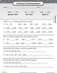order up number inequalities worksheet education com