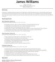 Entry Level Customer Service Resume Objective Brilliant Ideas Customer Representative Resume Sample Customer
