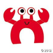 template for letter c craft crab kindergarten pinterest