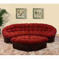 this 4 piece sectional set includes ottomans and sofa sections for