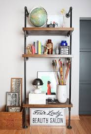 Industrial Pipe Bookcase How To Build An Industrial Pipe Shelf Shelterness