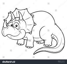 vector illustration cartoon dinosaur coloring book stock vector