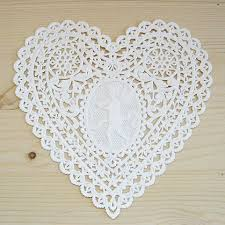 heart shaped doilies heart shaped paper doily angel