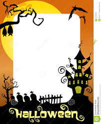 halloween photo frame ghost castle royalty free stock image
