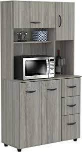 kitchen storage cabinets cheap inval kitchen microwave storage cabinet smoke oak