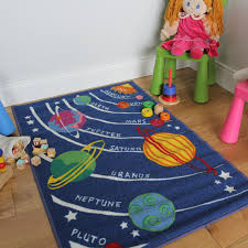 wonderful kids playroom rugs boy space and planets children rug