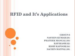 rfid and its applications