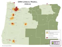 State Map Of Oregon by Rural Definitions Oregon Office Of Rural Health Ohsu
