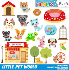 little pet world pet shop pet store clip art set kit by dimipix