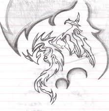 dragon tribal pencil by kuroakai on deviantart