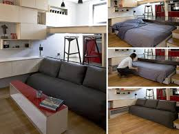 Sofa With A Pull Out Bed 13 Amazing Examples Of Beds Designed For Small Rooms Contemporist