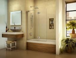 Shower Bathtub Combo Designs Pivoting Tub Shield Or Tub Screen Contemporary Bathroom