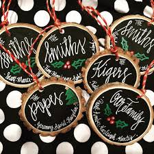 custom ornaments personalized wooden slice chalkboard christmas by youalphabetcha