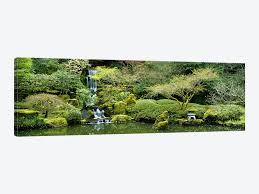 waterfall in a garden japanese garden washington park portl