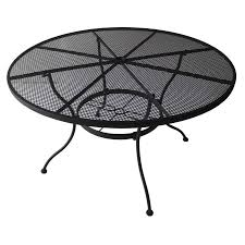 furniture black wrought iron outdoor furniture with wrought iron coffee table shop patio tables at lowes com 6432316 round patio