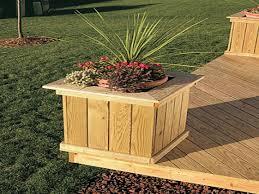 Deck Railing Planter Box Plans by Deck With Planter Boxes Style Pixelmari Com