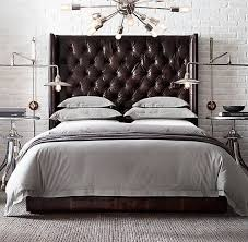 Tufted Leather Headboard Like Tufted Leather Headboard My Bedroom Pinterest