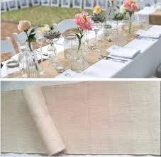 shabby chic table runner 35cm x10 meters shabby chic natural jute burlap ribbon wedding table