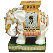 chinese ceramic elephant garden stool or drink table at 1stdibs