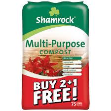 shamrock multi purpose compost 75 litre buy 2 get 1 free