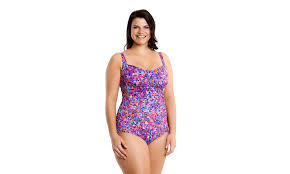 d d confetti clashing funkita form ruched one piece dd e cup