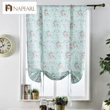 aliexpress com buy floral roman blinds short kitchen door