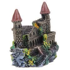 3pcs lot castle aquariums decorations castle tower