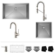 Restaurant Kitchen Faucet Stainless Steel Kitchen Sink Combination Kraususa Com