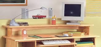 bureau largeur etagère écran sur bureau largeur 150 bali pin massif des